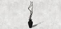 黑色陶瓷花瓶
