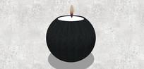 黑色圆形香薰蜡烛
