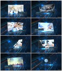 蓝色科技图片展示视频