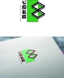 菱形数字标志logo设计