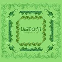 绿色藤条装饰矢量素材