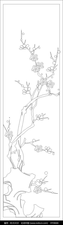 梅花树雕刻图案素材下载 编号8131410 红动网