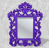 紫色欧式花边镜子