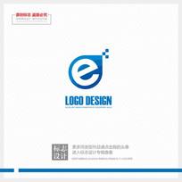 互联网科技公司蓝色现代标志 CDR