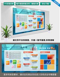 几何炫酷简约时尚大气公司企业文化宣传栏
