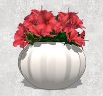 白色南瓜型SU花瓶