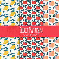 包装水果图案矢量图