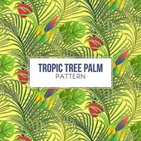 包装棕榈树背景矢量图