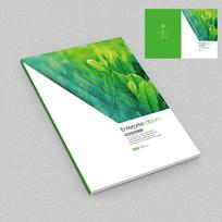 茶叶茶业绿茶种植园宣传册封面