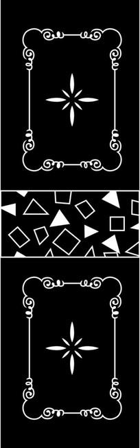 几何花纹雕刻图案