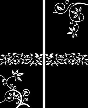 欧式花纹门图雕刻图案