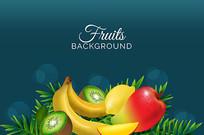 手提袋水果图案素材 AI