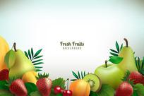 水果果汁包装素材
