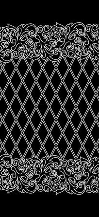 网格双线花纹雕刻图案