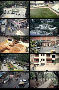 延时城市街头摄影视频