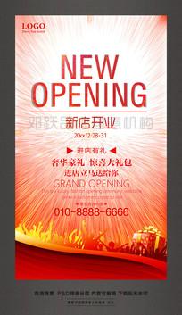 NEWOPENING新店开业促销活动海报