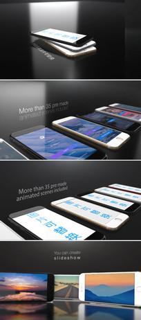 ae三维苹果手机宣传广告模板