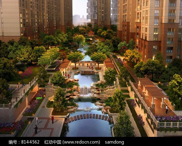 公园PSD鸟瞰图 图片
