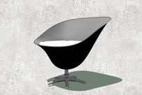 黑色凹面沙发座椅