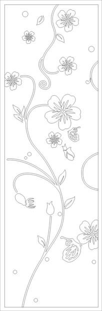 花开富贵雕刻图案 CDR