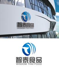 蓝色创意科技logo