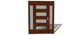 木艺玻璃矩形门
