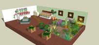 室内绿化模型
