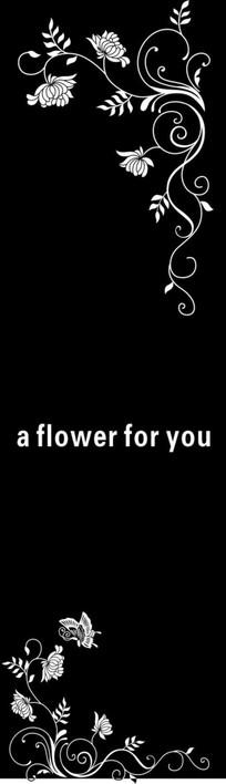 献花雕刻图案 CDR