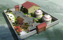小庭院效果图3dmax模型+贴图