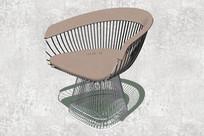 斜面金属座椅