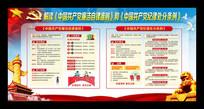 中国共产党廉洁自律准则和纪律处分条例展板