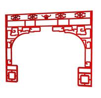 中国红室内室外镂空装饰