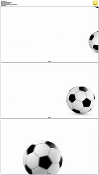 白背景滚动的足球动态视频素材
