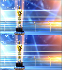 颁奖晚会小金人背景视频 mov