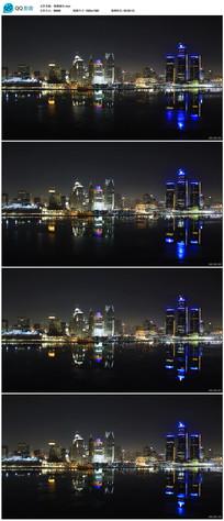 城市夜景延时摄影视频素材