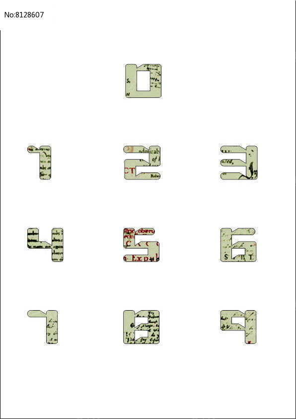 创意数字字体图片
