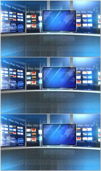 电视新闻虚拟演播室视频