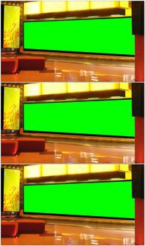 绿幕抠像背景演播室视频