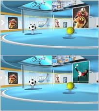 球类运动频道演播室背景视频 mov