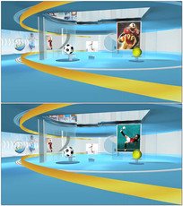 球类运动频道演播室视频