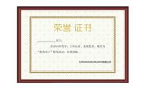 荣誉证书聘书模版