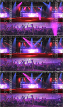 虚拟演唱会舞台背景视频 mov