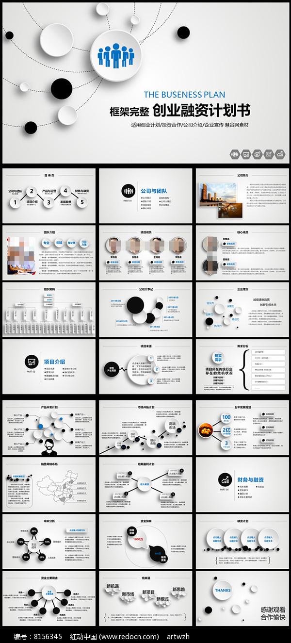 创业融资投资洽谈商务合作PPT模板图片