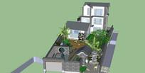 大理民居个性别墅模型
