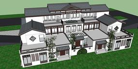 典雅中式别墅模型