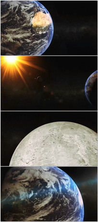 地球太阳月亮视频