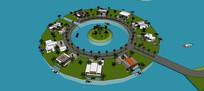 海景别墅区 模型