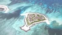 海南三沙市七连屿海景航拍视频素材