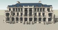 豪华法式别墅模型