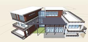 豪华现代别墅模型
